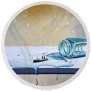 The Great Escape Round Beach Towel by Cindy Thornton
