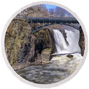 The Great Falls Round Beach Towel