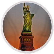 The Great Lady Round Beach Towel