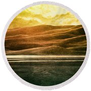 The Great Sand Dunes Round Beach Towel by Brett Pfister