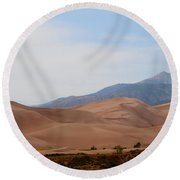 The Great Sand Dunes Round Beach Towel