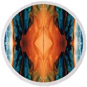 The Great Spirit - Abstract Art By Sharon Cummings Round Beach Towel