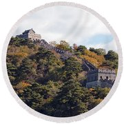 The Great Wall 632c Round Beach Towel