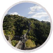 The Great Wall 649 Round Beach Towel
