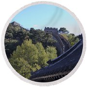 The Great Wall 682 Round Beach Towel