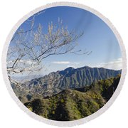 The Great Wall 834 Round Beach Towel