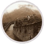 The Great Wall Round Beach Towel