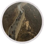 The Great Wall Of China At Badaling - 8  Round Beach Towel