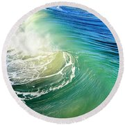 The Great Wave Round Beach Towel by Laura Fasulo