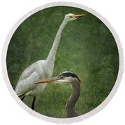 The Greats - Birds That Is... Round Beach Towel
