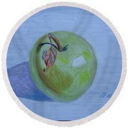 The Green Apple Round Beach Towel