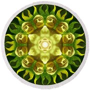 The Green Buddha Round Beach Towel