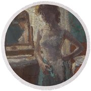 The Green Dress, 1908-09 Round Beach Towel