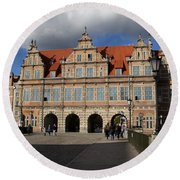 The Green Gate - Gdansk Round Beach Towel