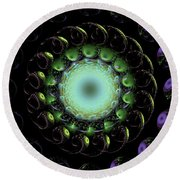 The Green Hole Round Beach Towel