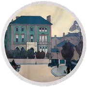 The Green House In St Johns Wood Round Beach Towel