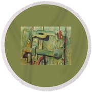 The Green Latch Round Beach Towel