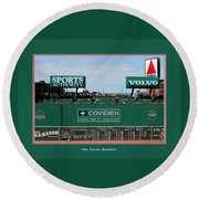 The Green Monster Fenway Park Round Beach Towel