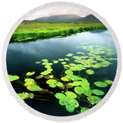 The Green Of Our Land Round Beach Towel