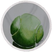 The Green One Round Beach Towel
