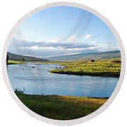 The Green River Round Beach Towel