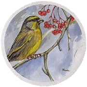 The Greenfinch Round Beach Towel