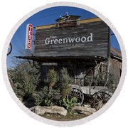 The Greenwood Dancehall And Saloon Bluff Dale Texas Round Beach Towel