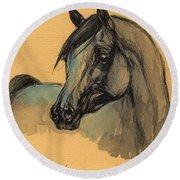 The Grey Arabian Horse 1 Round Beach Towel