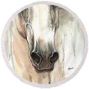 The Grey Horse Portrait 2014 02 10 Round Beach Towel