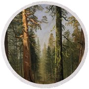The Grizzly Giant Sequoia Mariposa Grove California Round Beach Towel