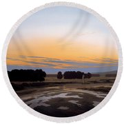 The Grosse Gehege Near Dresden Round Beach Towel
