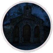 The Grotto By Moonlight Round Beach Towel