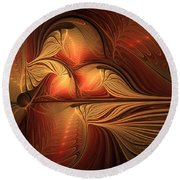 The Guardian Of Light Round Beach Towel