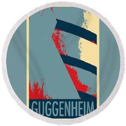 The Guggenheim In Hope Round Beach Towel by Rob Hans