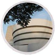 The Guggenheim Museum Round Beach Towel