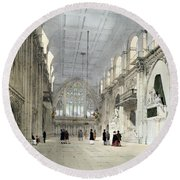 The Guildhall, Interior, From London As Round Beach Towel