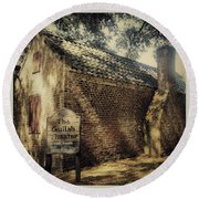 The Gullah Theater At Boone Hall Round Beach Towel