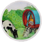 The Gypsies Round Beach Towel