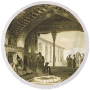 The Hall Of Mirrors In The Palace Round Beach Towel by Grigori Grigorevich Gagarin