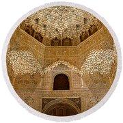 The Hall Of The Arabian Nights Round Beach Towel