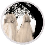 The Hanging Brides  Round Beach Towel