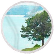 The Harbour Round Beach Towel