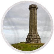 The Hardy Monument 2 Round Beach Towel