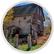 The Harvest Is In Round Beach Towel by Jeff Folger