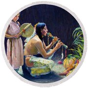 The Harvest Song Round Beach Towel