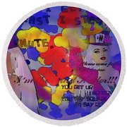The Hatter Round Beach Towel