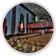 The Haunted Cole Theater Round Beach Towel