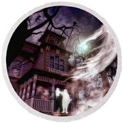 The Haunting Of Blackthorne Manor  Round Beach Towel