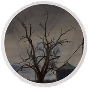 The Haunting Tree Round Beach Towel by Alys Caviness-Gober