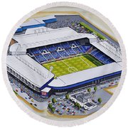 The Hawthorns - West Bromwich Albion Fc Round Beach Towel